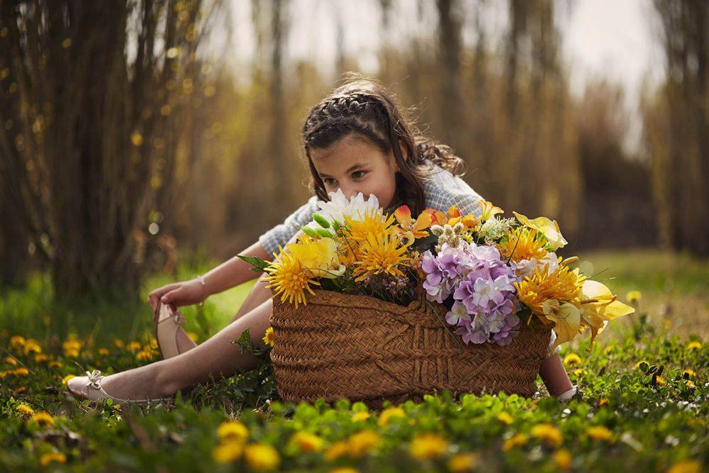 fotografia de niña en exteriores