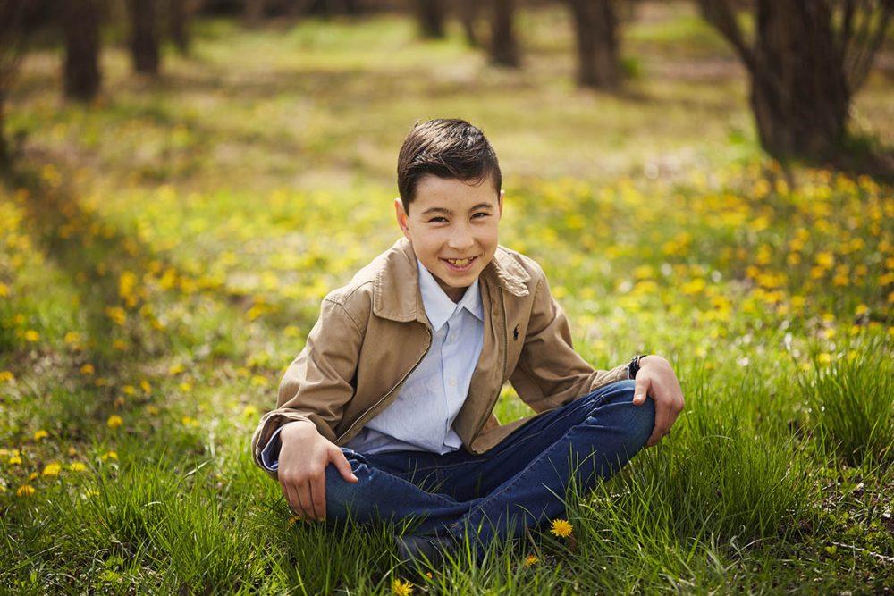 fotografia para niños en exteriores