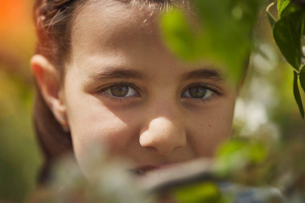 fotos infantiles en naturaleza