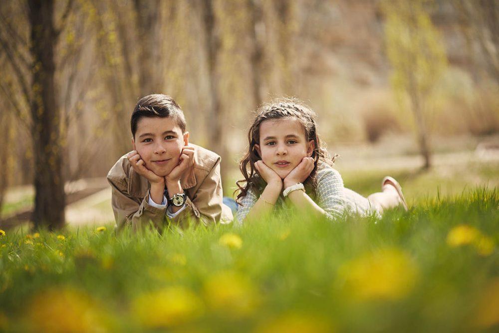 sesiones para niños en exteriores