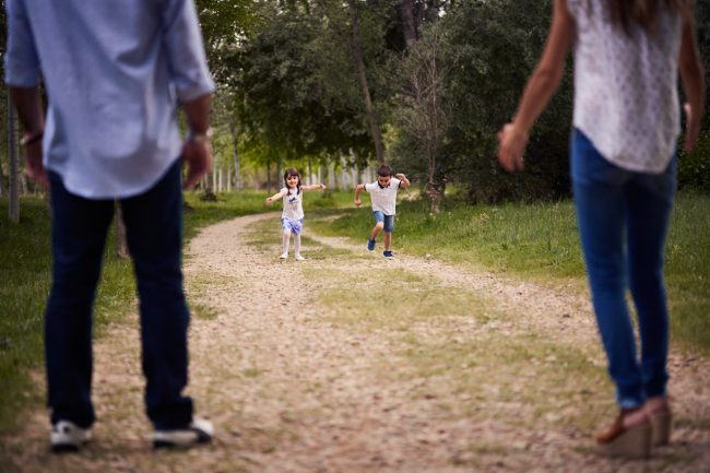 sesion familiar con niños en Zaragoza